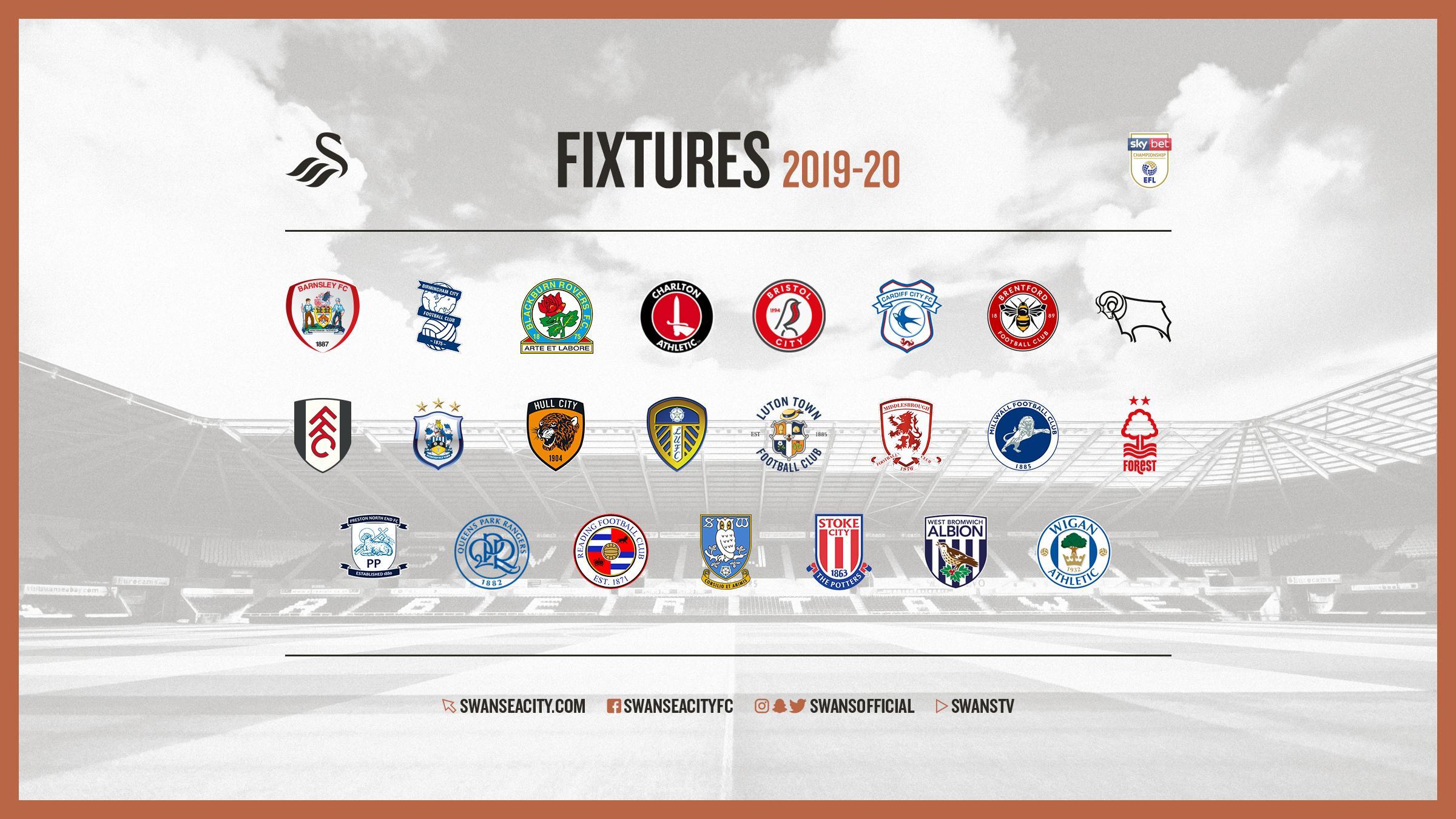 Swansea City fixtures released | Swansea